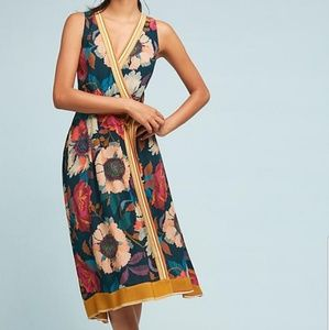 Anthropologie Botanica Floral Wrap Dress (Size14)